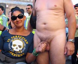 Amateur nude couples in public,..