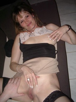 Petite mature wife dressed in black..