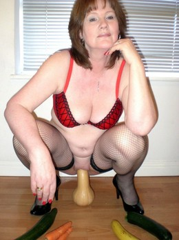 The lady likes to play with her toys..
