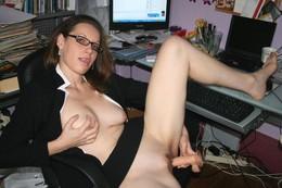 Girls masturbating looking at porn..