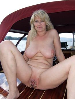 My ex-wife posing nude on the beach