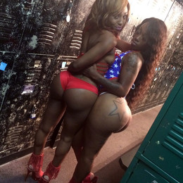 Lingerie show with curvy ebony babes,..