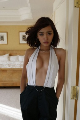 Young Asian beauty with long blond..