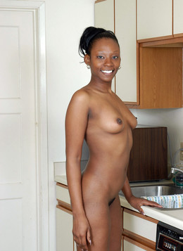 Amateur, young black wife posing nude..