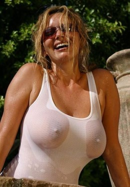 Nip slip pictures with busty ladies...