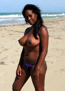 Ebony housewives nude beach photos