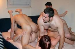 Amateur group sex parties. Awesome FFM..