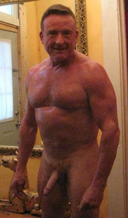 Older Men watch my big cock