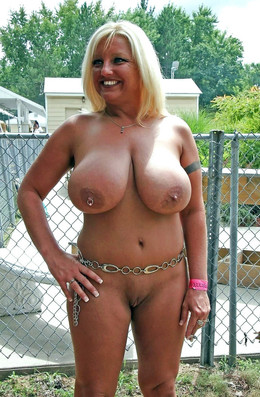 Chubby mature nudists in the vacation