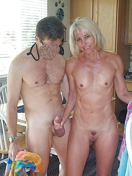 Cheerful blonde MILF fucked in all..