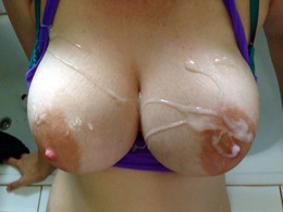 These photos of cumshots on big boobs..