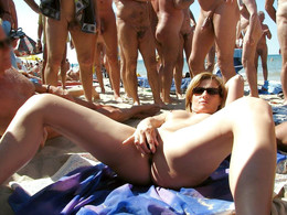 Dissolute women at vacation, beach..
