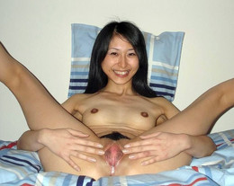 Slutty asian girlfriend with small..