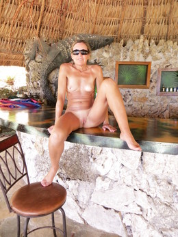 Slender milf Thai beach bar
