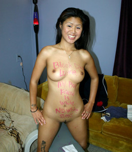 Really acrobatic busted Asian chick..