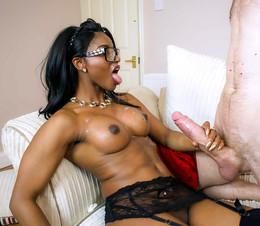 Busty black pornstar Brown Sugar..