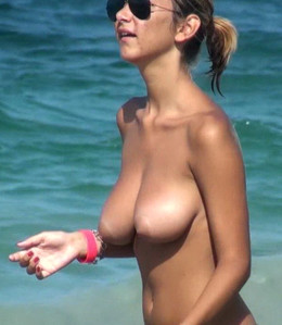 Mega busty women walking topless on..