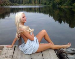Beautiful blonde girlfriend posing..