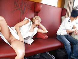 Naked girls in the trains, sexy chicks..