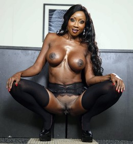 Charming leggy black ladies with juicy..