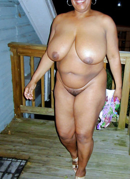 Passionate black matures posing naked..