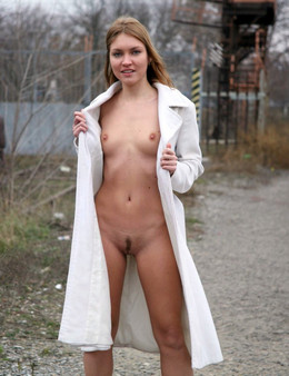 Naked extreme, young model posing on..