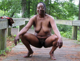 Sexy black elderly couple, they are..