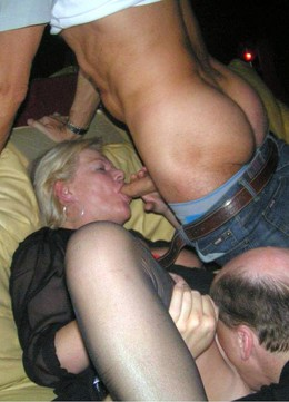 Amateur threesome and American..