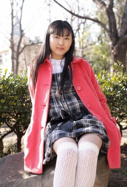 A schoolgirl japanese idol shows her..